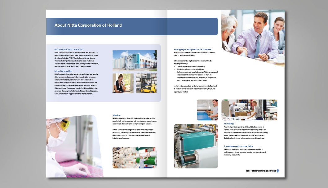Brochure met UV lak